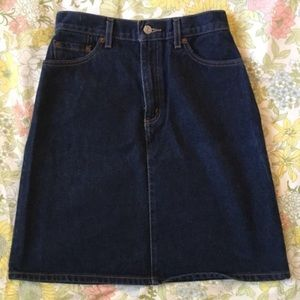 Vintage 90's High Waist Levis Cowgirl Jeans Skirt